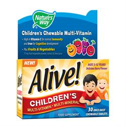 Natures Way Alive! Chidrens Chewable Multi-Vitamin and Fruits and Vegetables 30 Tabs