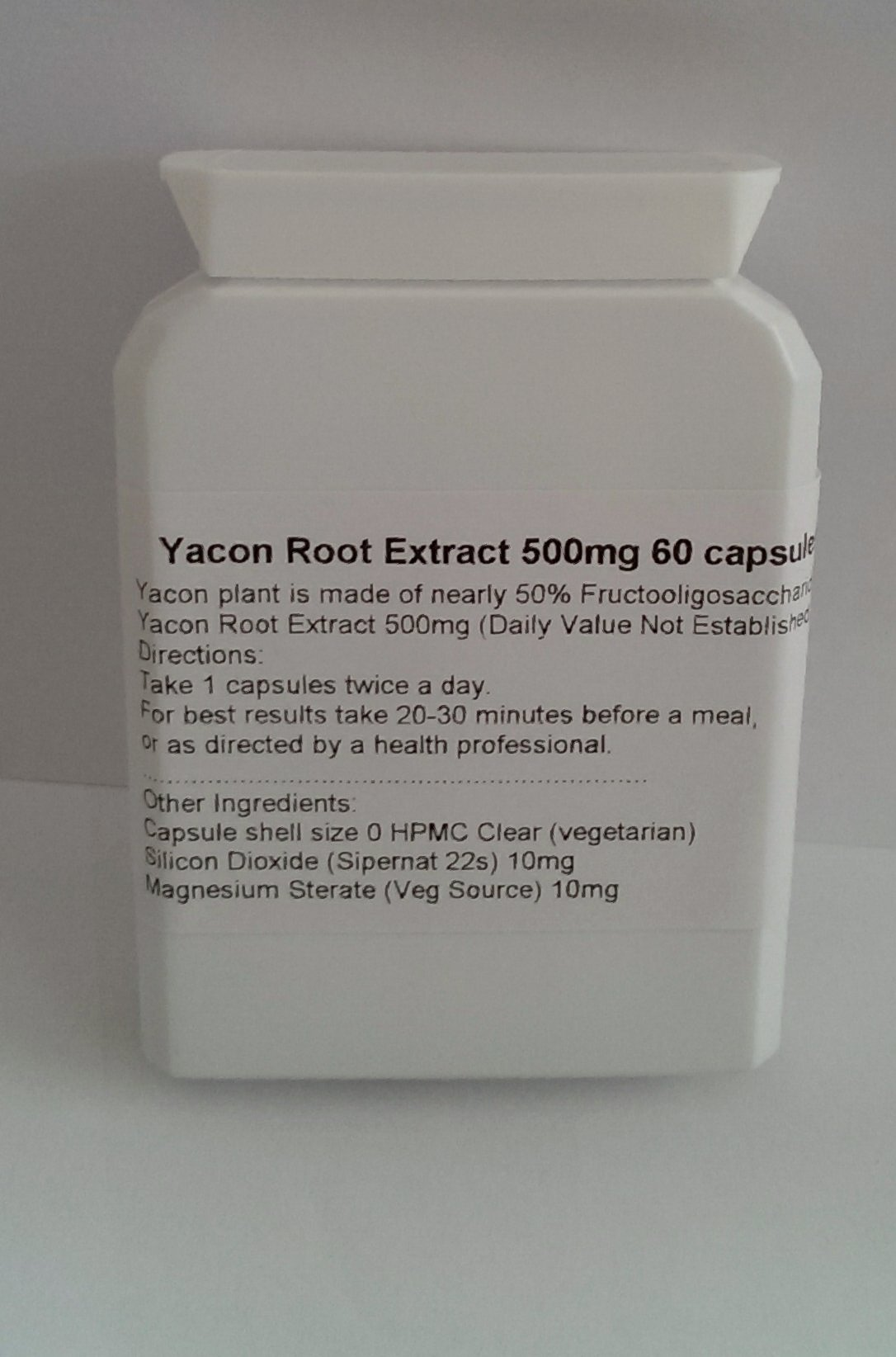 Yacon Root Extract 500mg 60 capsules