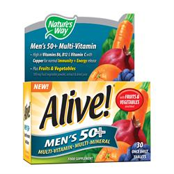 Natures Way Alive! Mens 50+ Multi-Vitamin 30tabs