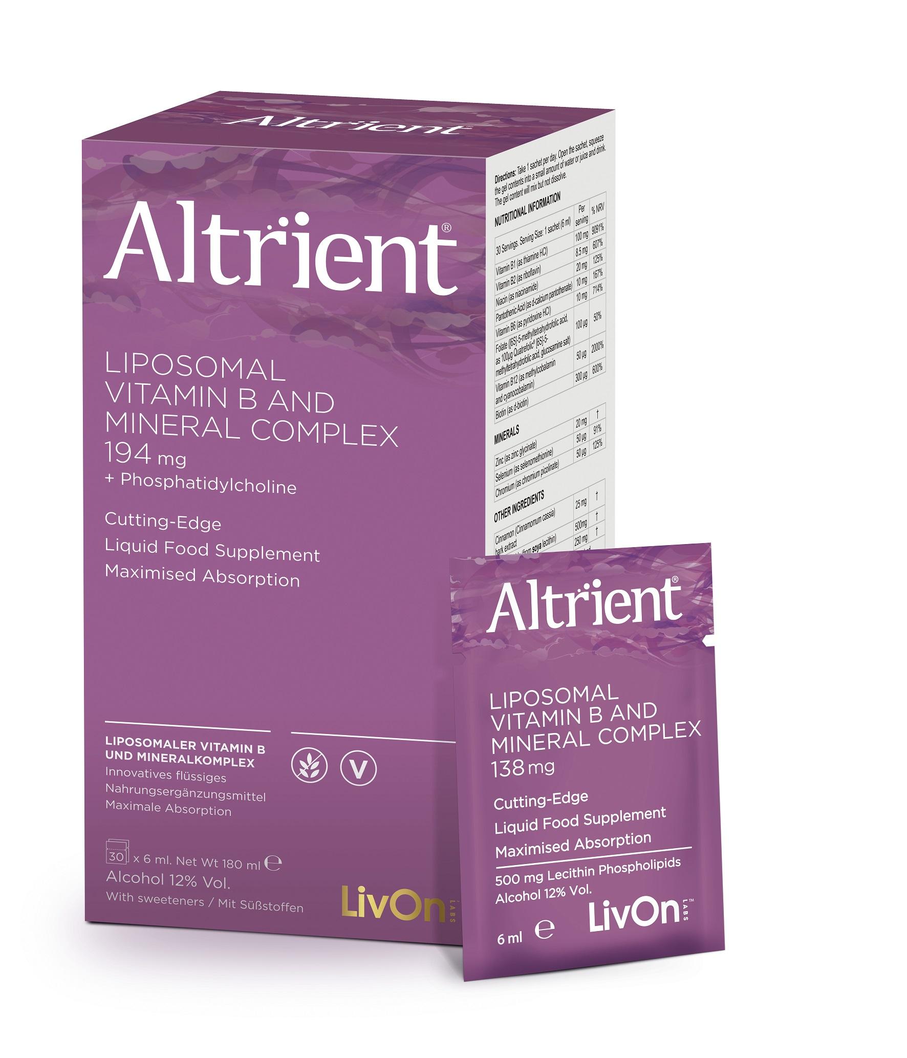 Liposomal Vitamin B And Mineral Complex 30 Sachets
