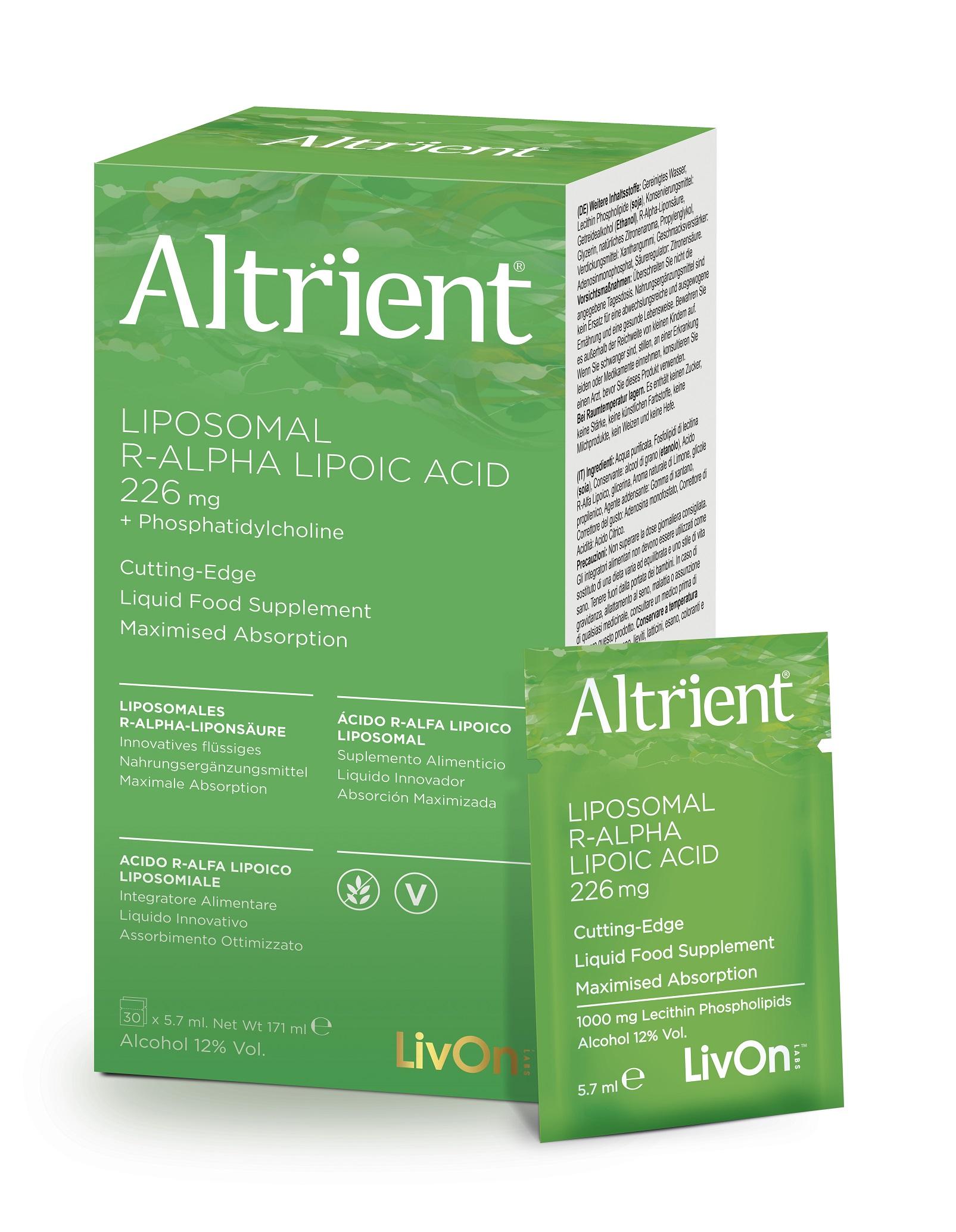 Liposomal R-Alpha Lipoic Acid 226mg 30 Sachets (Currently Unavailable)
