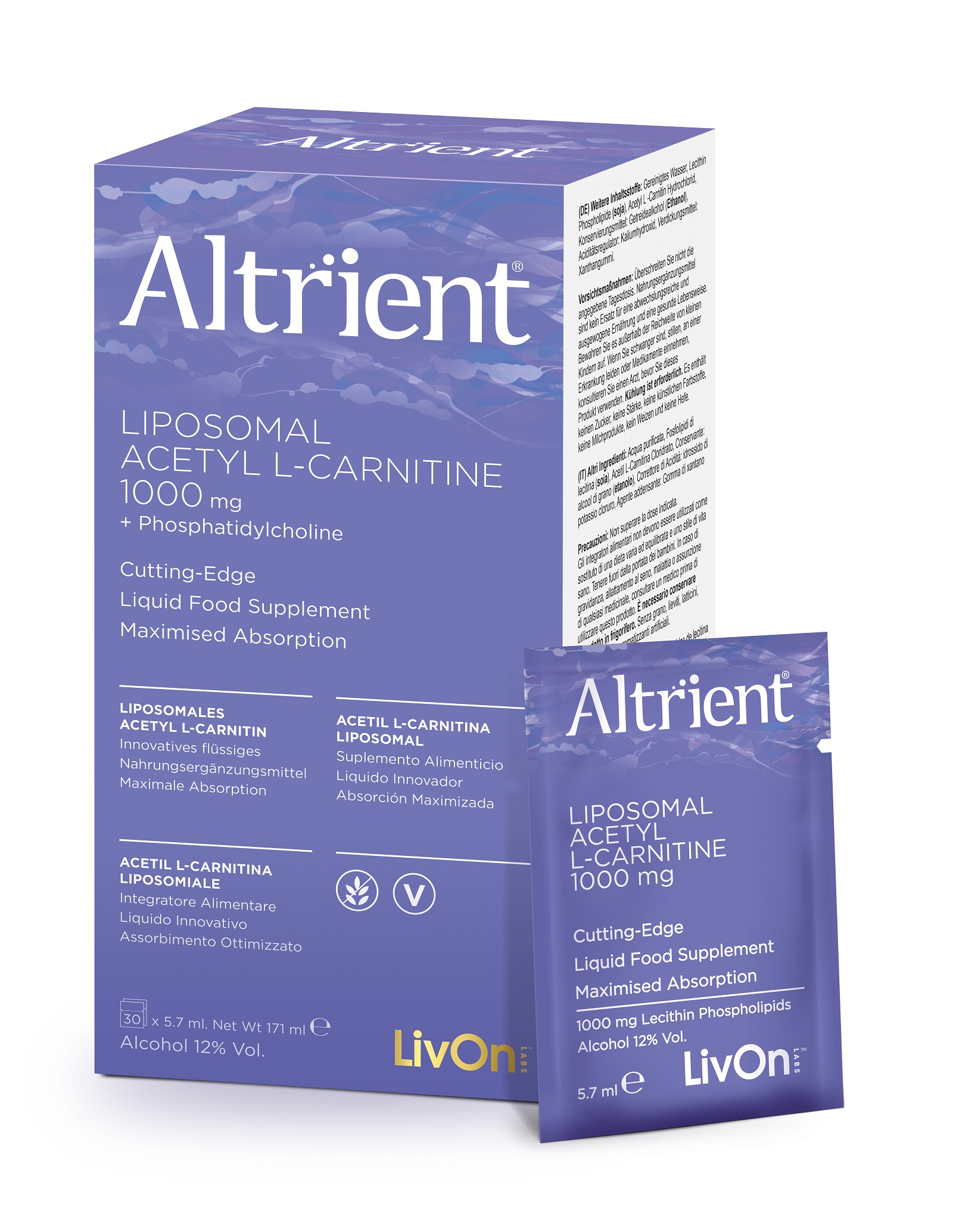 Liposomal Acetyl L-Carnitine 1000mg 30 Sachets (Currently Unavailable)