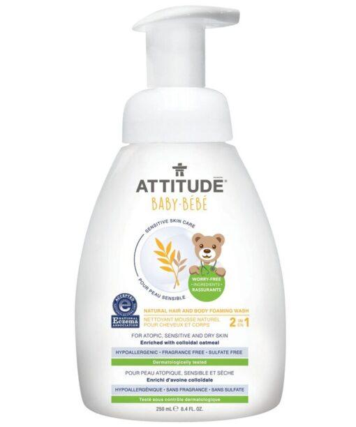 Sensitive Skin Baby Natural Hair and Body Foaming Wash 250ml
