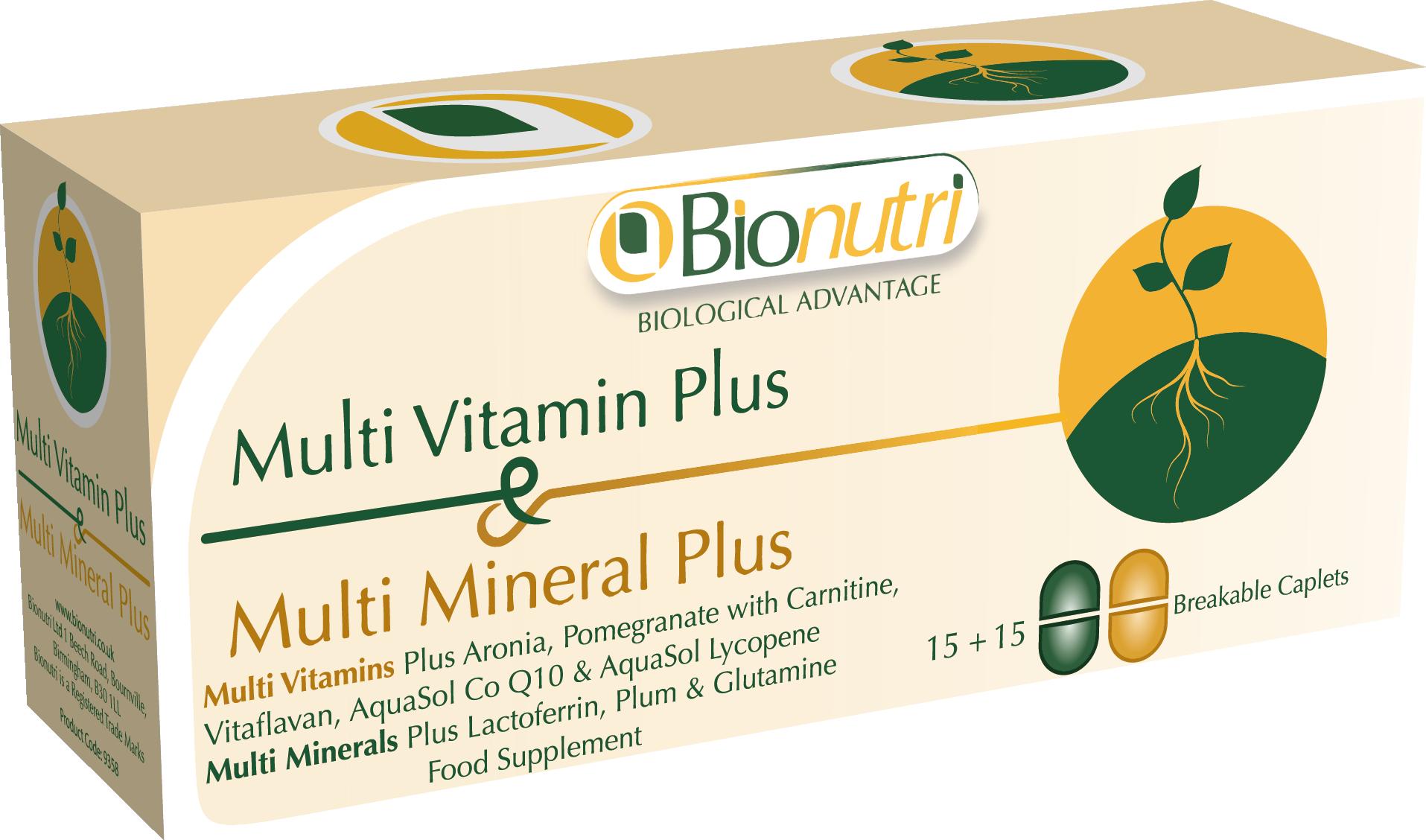 Multi Vitamin & Mineral Plus 15 + 15