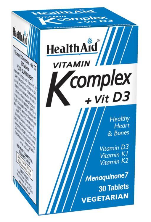 Vitamin K Complex + Vitamin D3 30's