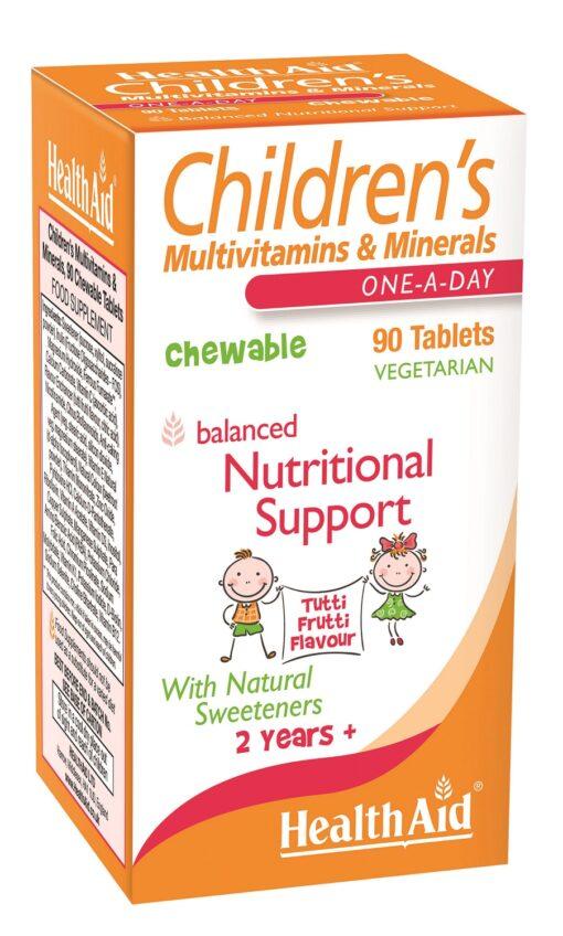 Children's Multivitamins & Minerals Tutti Fruity Flavour 90's