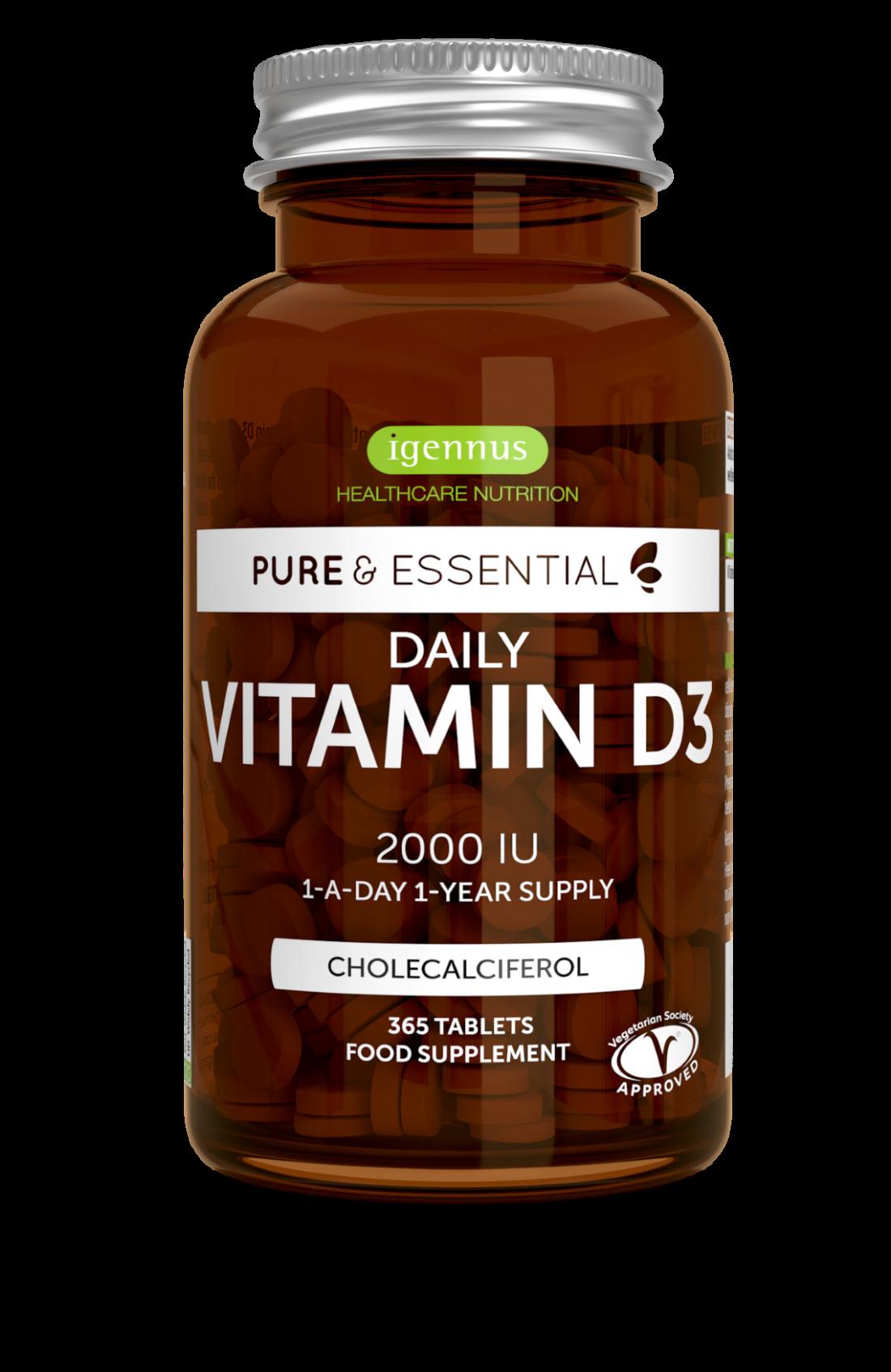 Pure & Essential Daily Vitamin D3 2000iu 365's