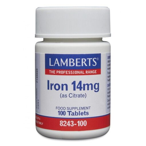 Iron 14mg (as Citrate) 100's
