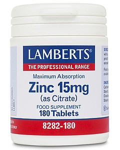 Zinc 15mg (as Citrate) 180's