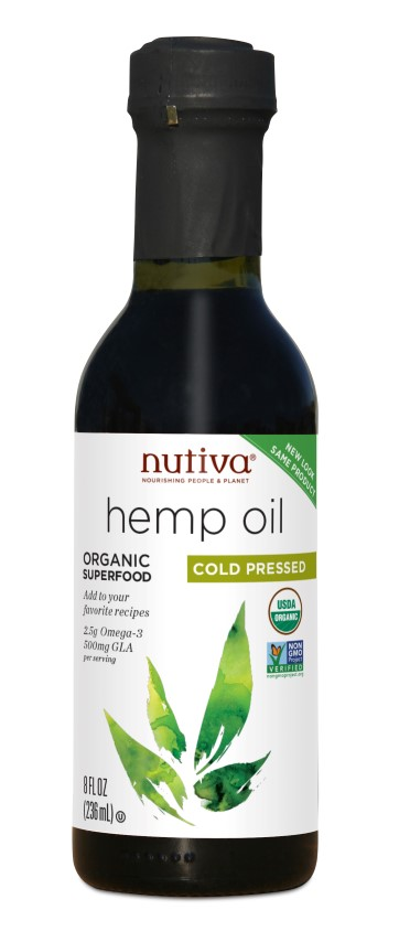 Organic Hemp Oil Cold Pressed 236ml