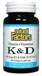 Vitamin K & D 120mcg/1000IU 60's