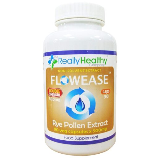 Flowease Rye Pollen Extract Double Strength 500mg 90's
