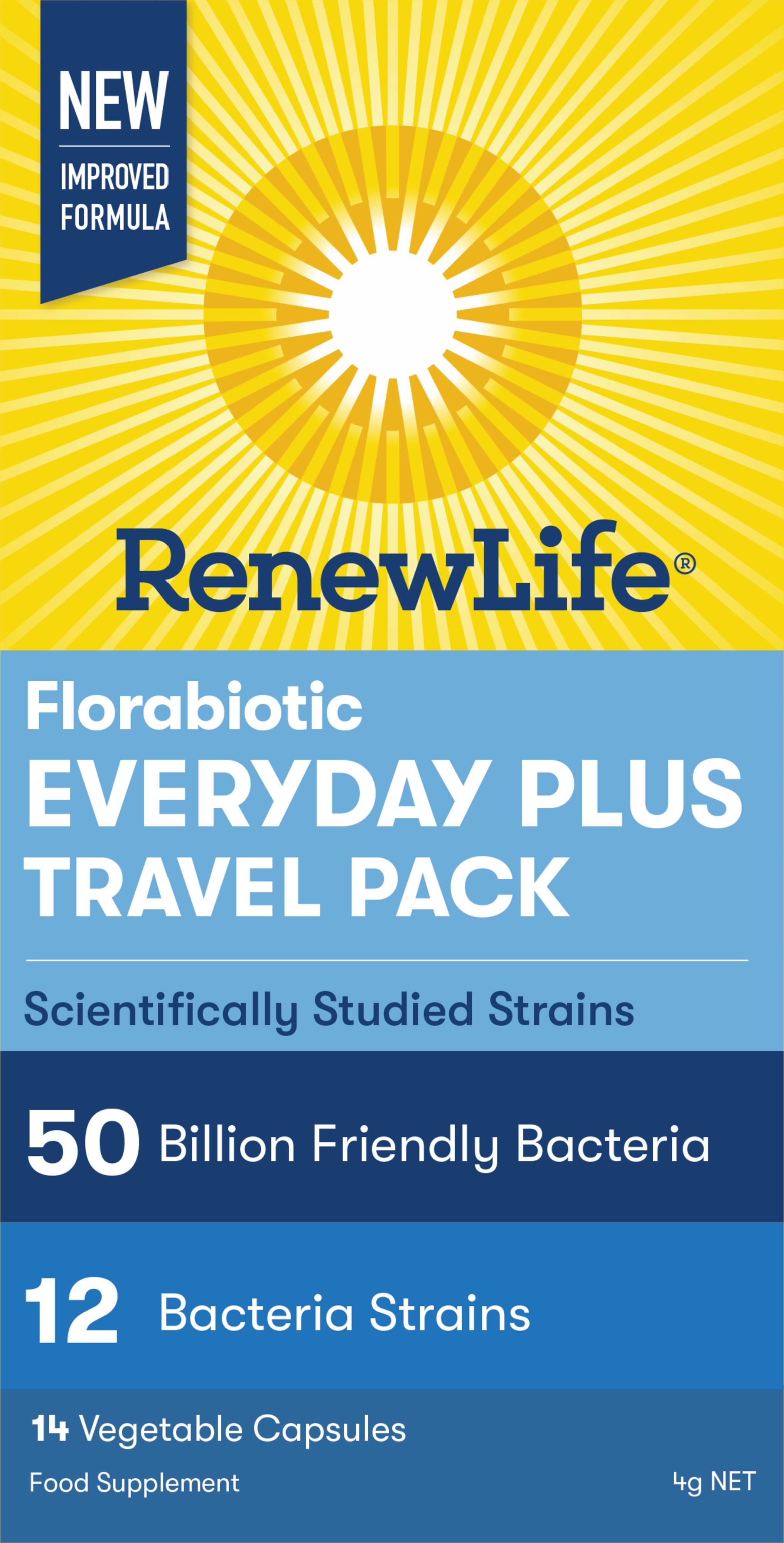 Florabiotic Everyday Plus Travel Pack 50 Billion 14's