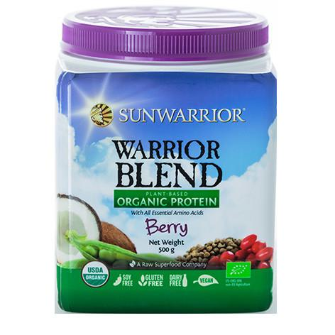 Warrior Blend Plant Based Organic Protein Berry 500g