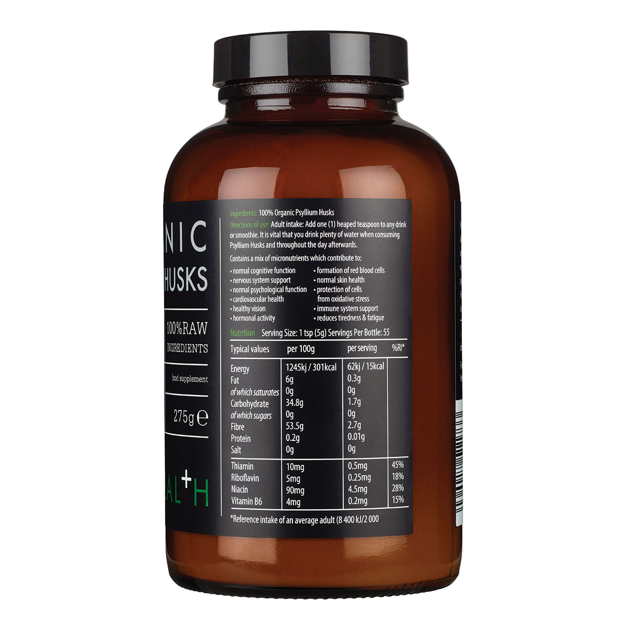 Organic Psyllium Husks Powder 275g