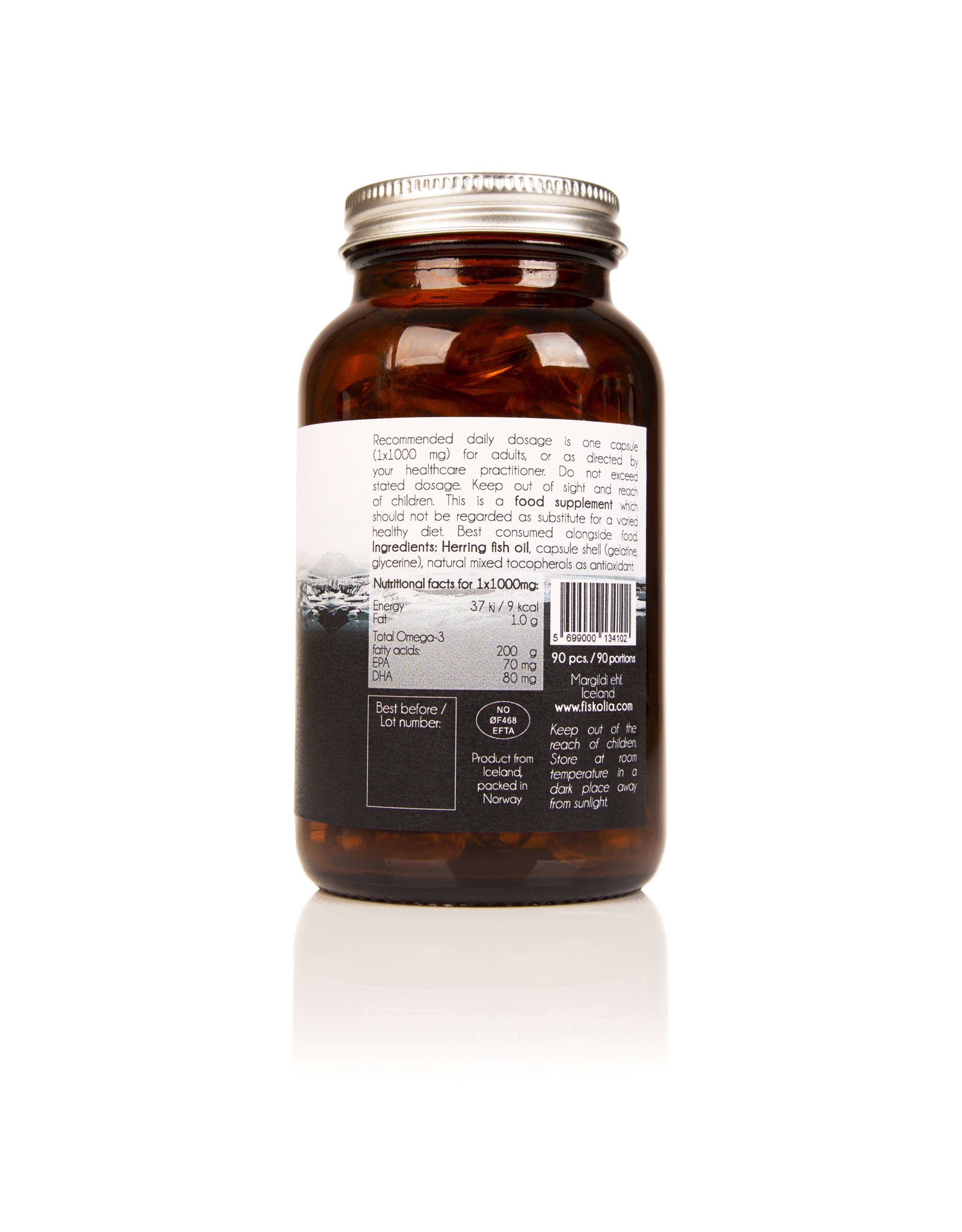 Omega 3 Herring Fish Oil Natural 90 Capsules