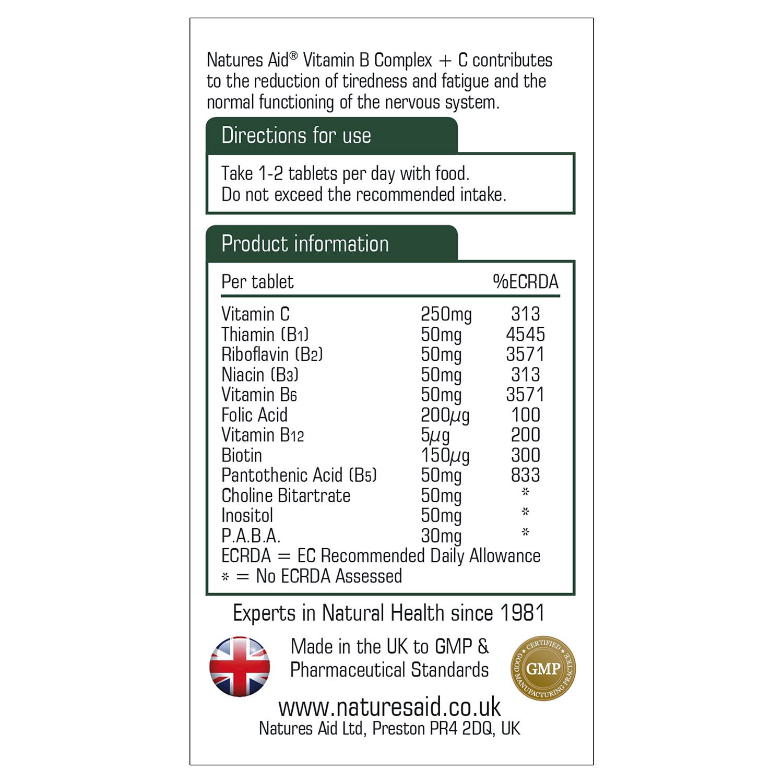 Vitamin B Complex 50 with Vitamin C 30's
