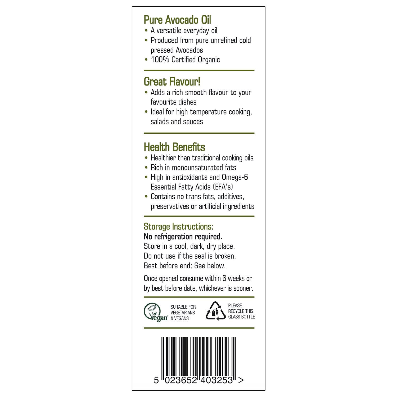 Organic Avocado Oil 250ml