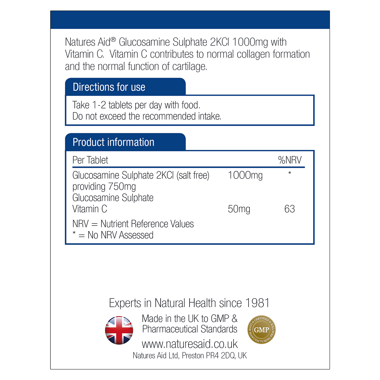 Glucosamine Sulphate 2KCl 1000mg with Vitamin C 90's