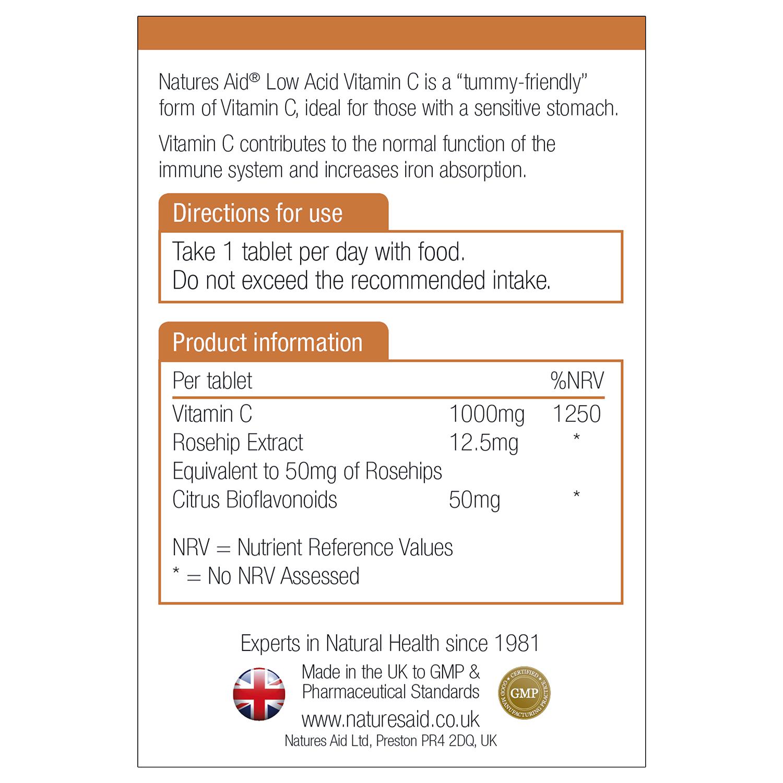 Vitamin C 1000mg Low Acid 30's