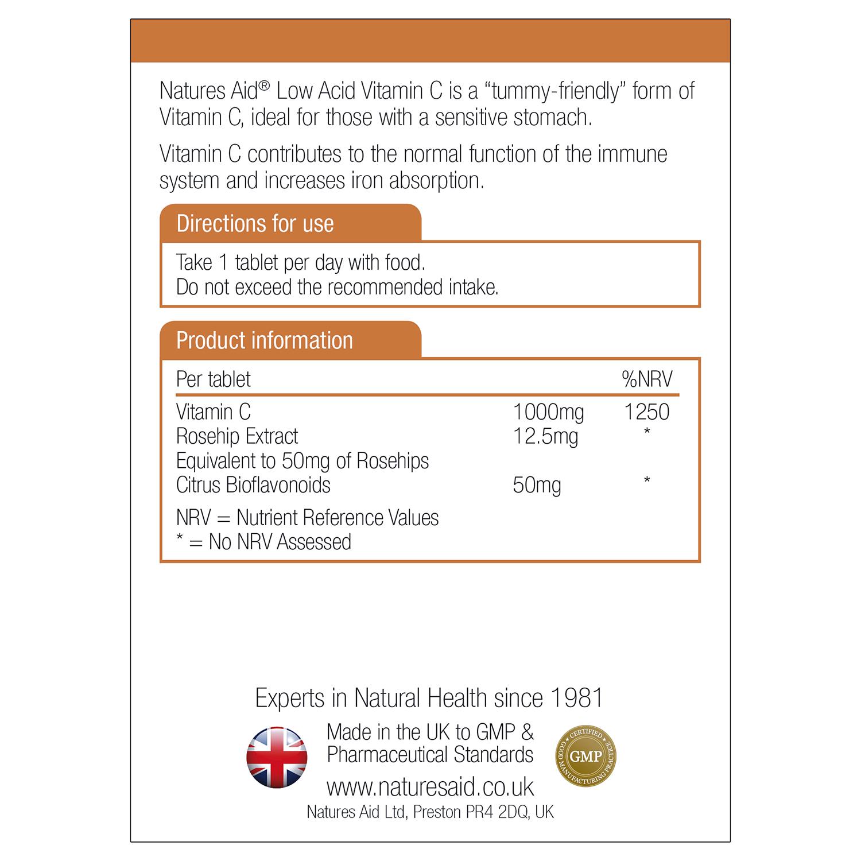 Vitamin C 1000mg Low Acid 180's