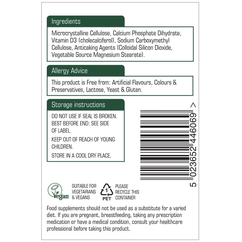 Vitamin D3 1000iu 60's (Vegan)