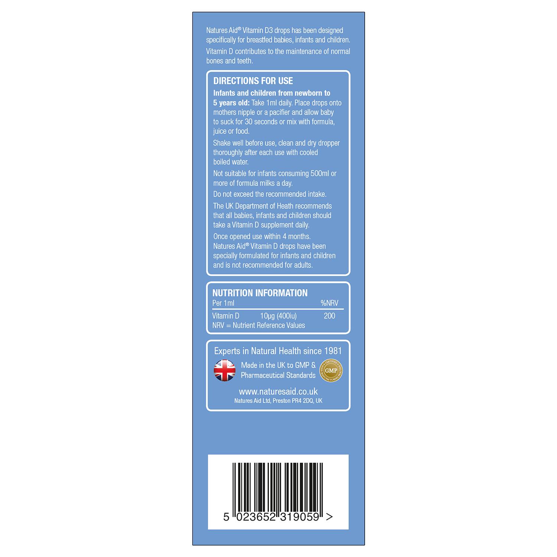 Vitamin D3 400iu Drops for infants & children 50ml