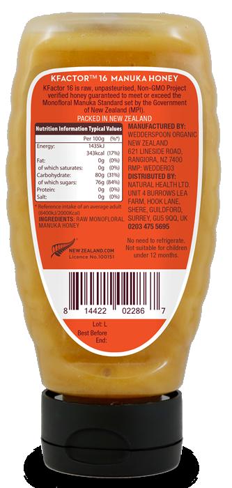 Squeezy Raw Monofloral Manuka Honey 340g