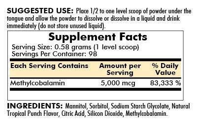 Methylcobalamin Concentrated Powder 57g