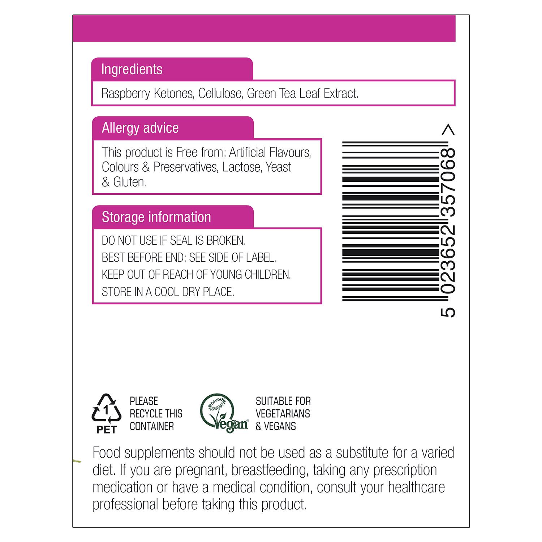 Raspberry Ketones Advance + Green Tea 400mg 60's