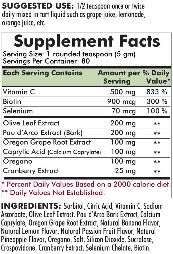 Yeast-Aid Advanced Formula Powder Flavored 400g