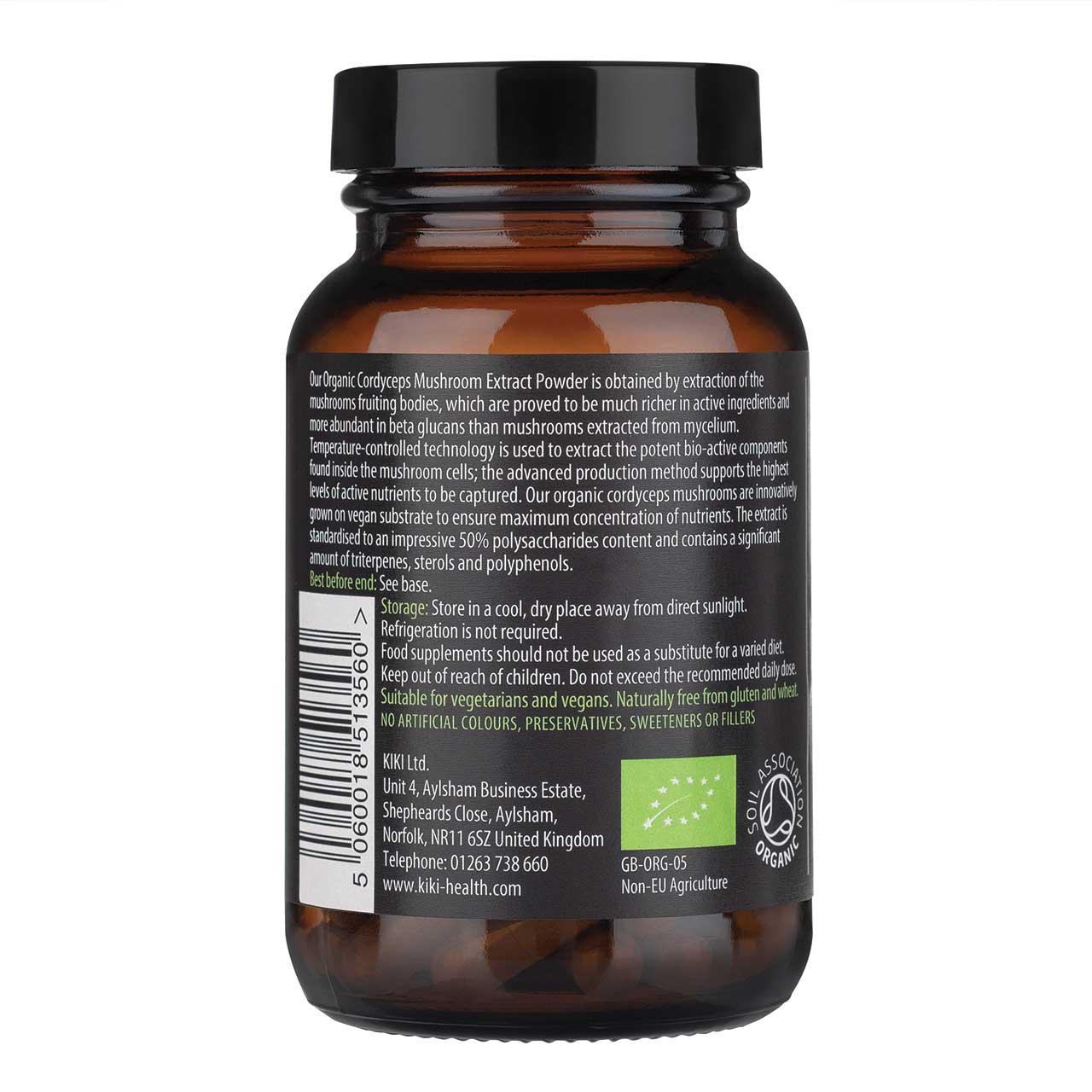 Organic Cordyceps Mushroom Extract 60's