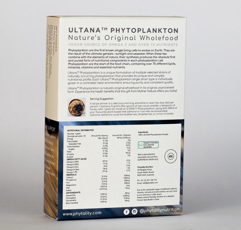 Phytality Ultana Phytoplankton 30g Powder