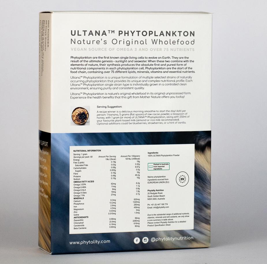 Phytality Ultana Phytoplankton 60g Powder