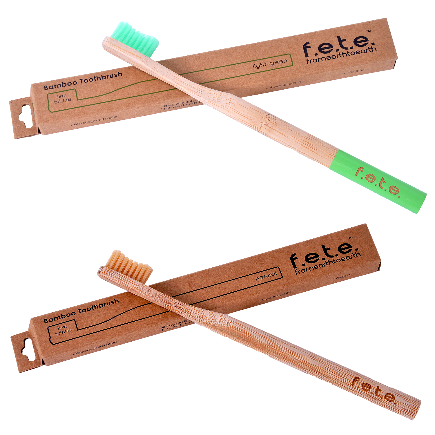 Bamboo Toothbrush Firm Bristles - Boldly Bare (Natural) (single)
