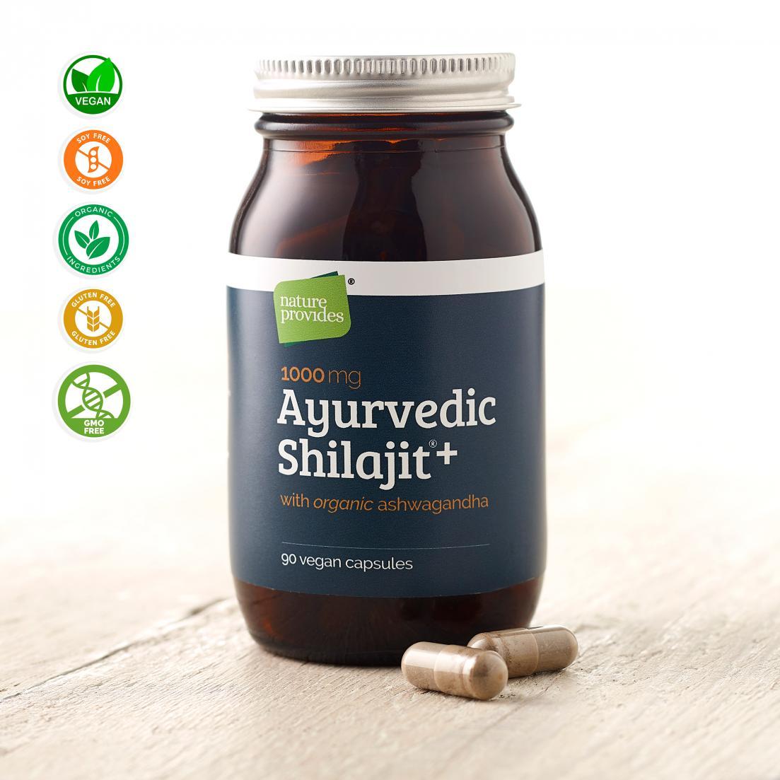 Ayurvedic Shilajit + Organic Ashwagandha 90's