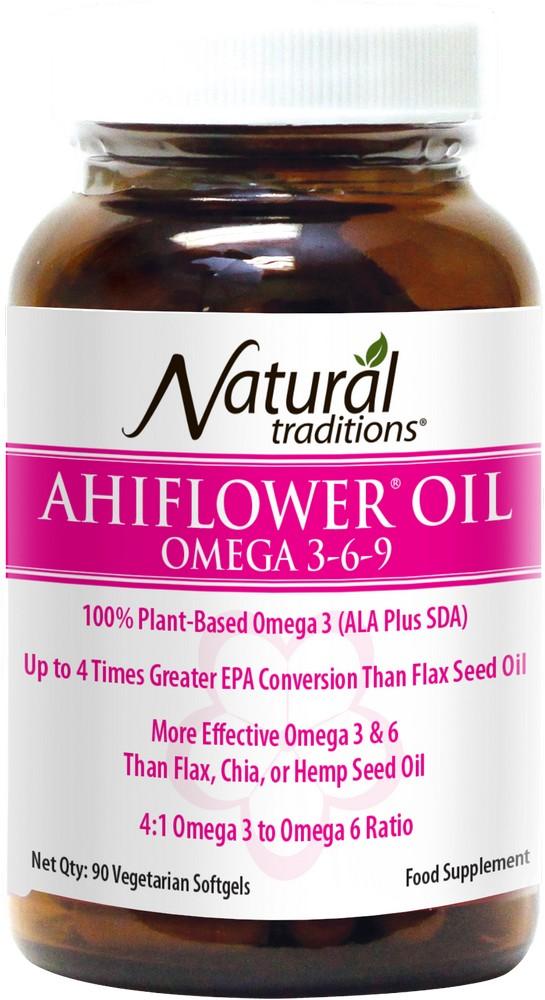 Ahiflower Oil Omega 3-6-9 90's
