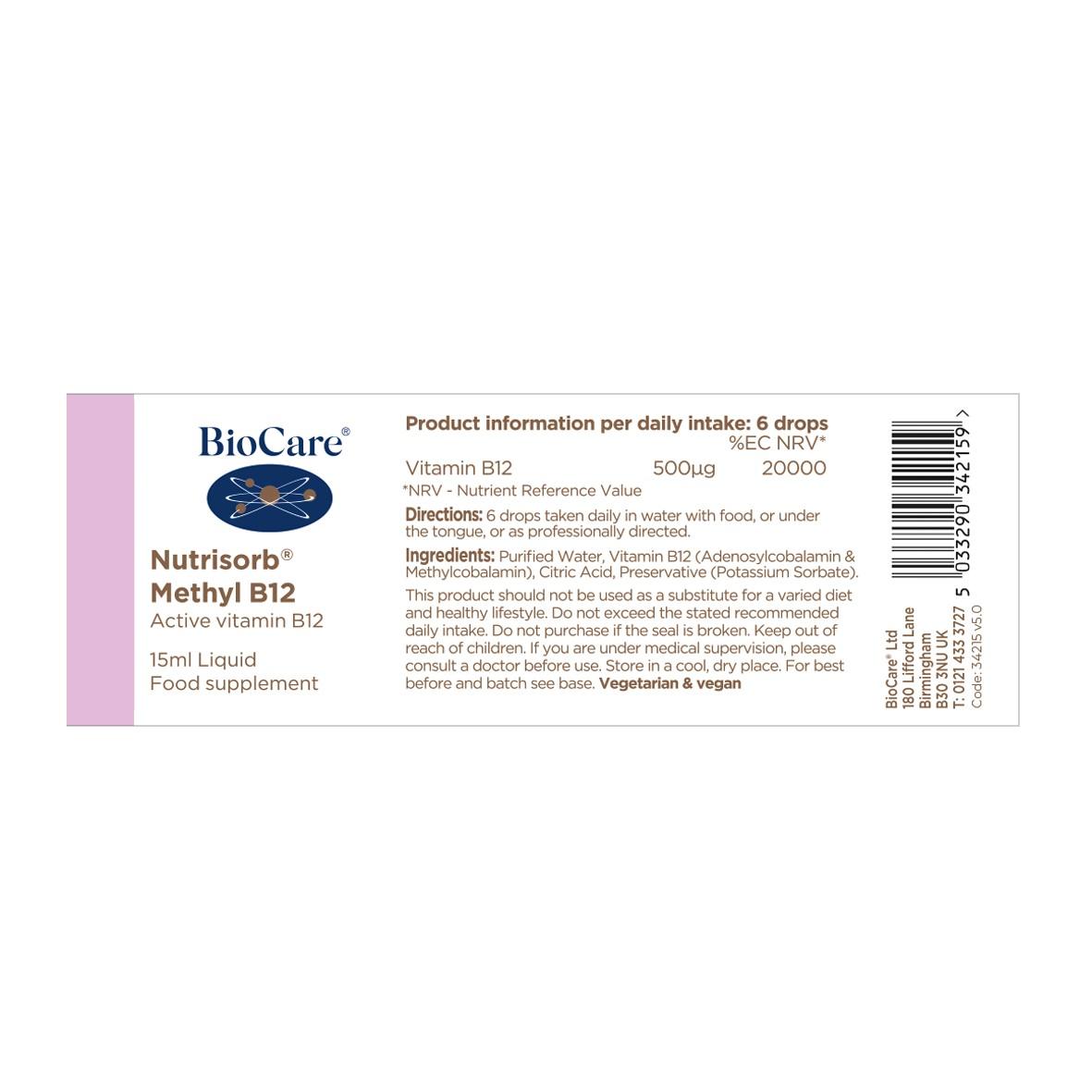 Nutrisorb Methyl B12 15ml