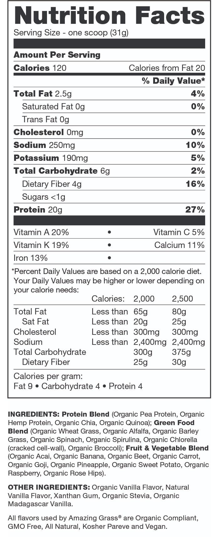 Protein Superfood Vanilla 363g