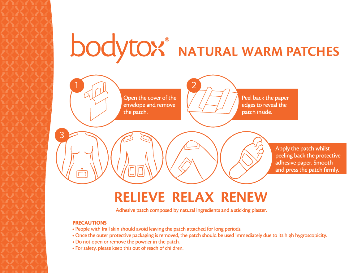 Natural Warm Patches Pack of 14