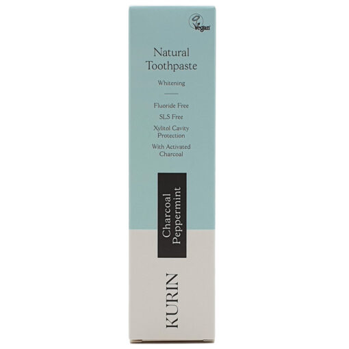 Natural Toothpaste Whitening Fluoride Free Charcoal Peppermint 100ml