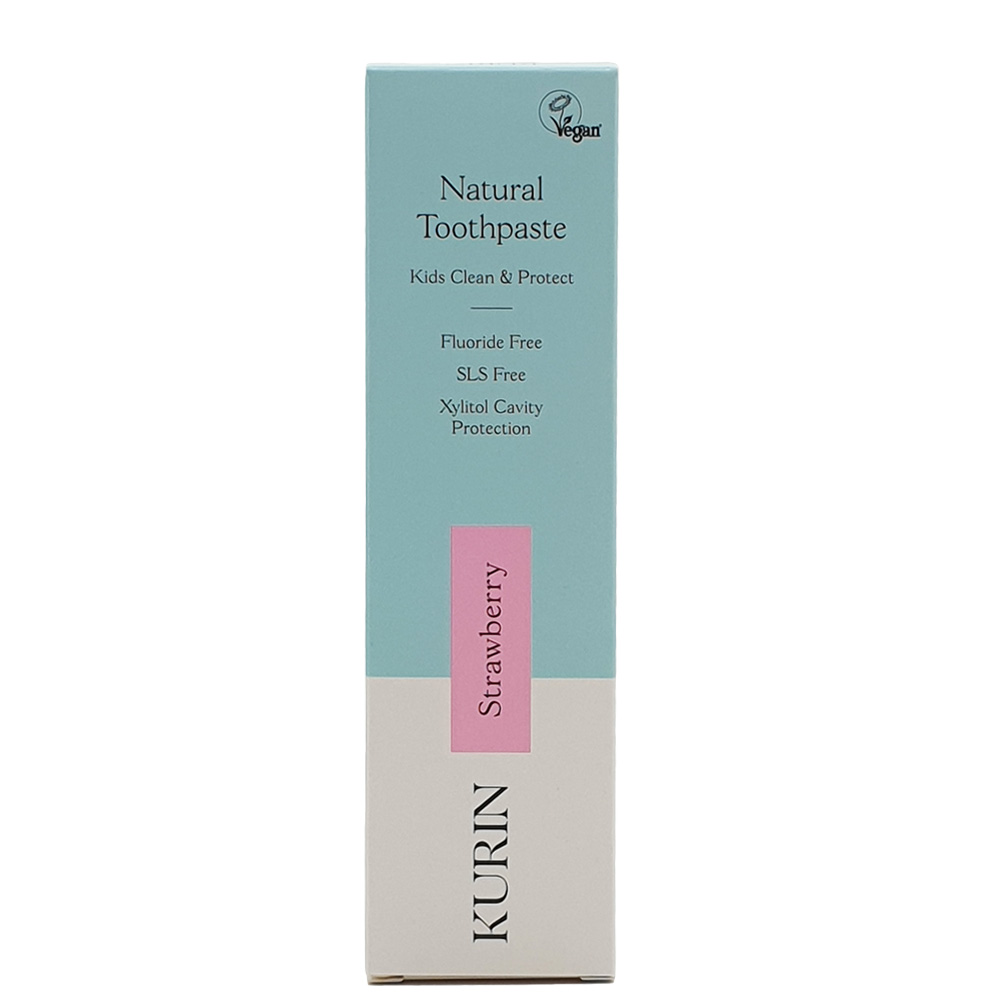 Natural Toothpaste Kids Clean & Protect Fluoride Free  Strawberry 75ml