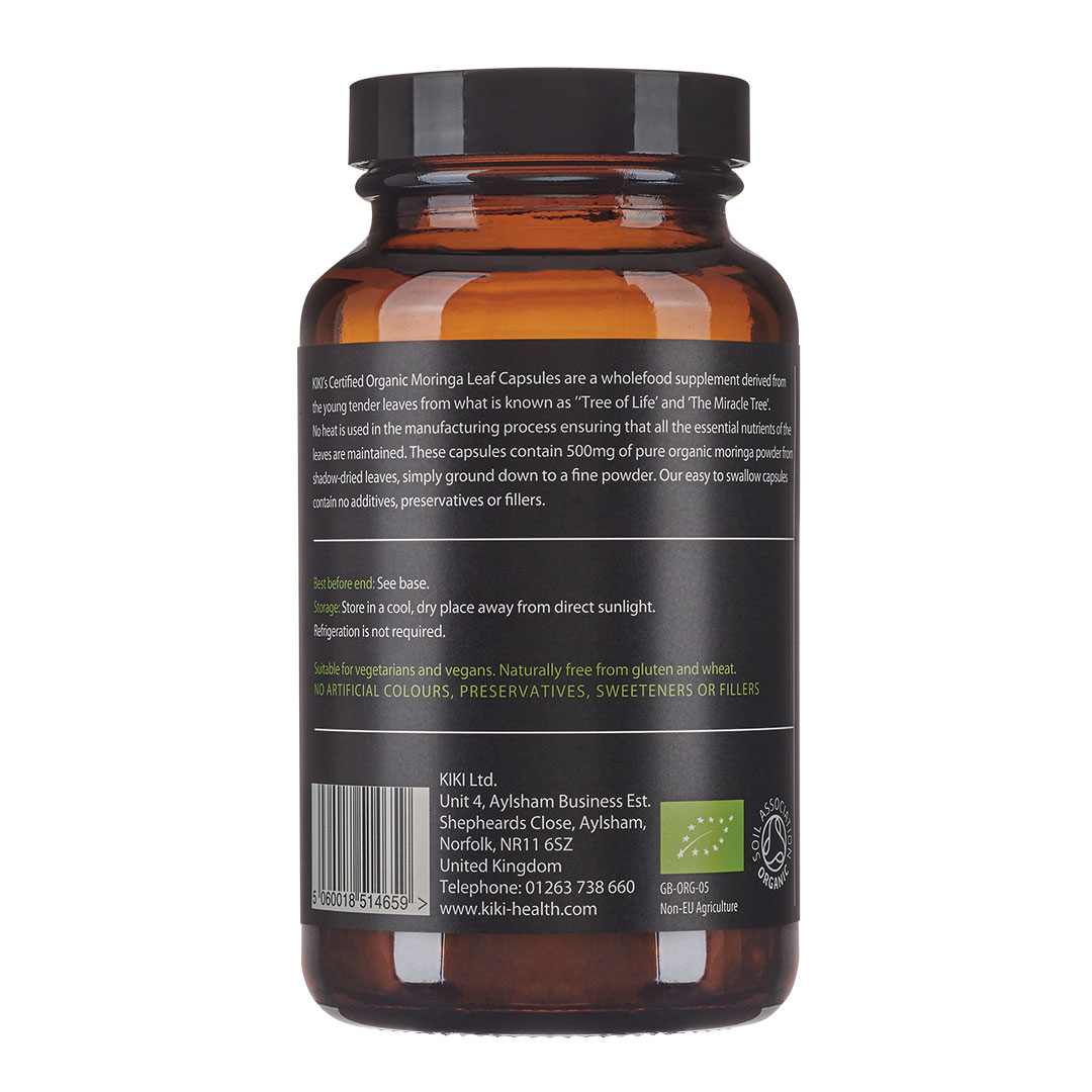 Organic Moringa Leaf 120's