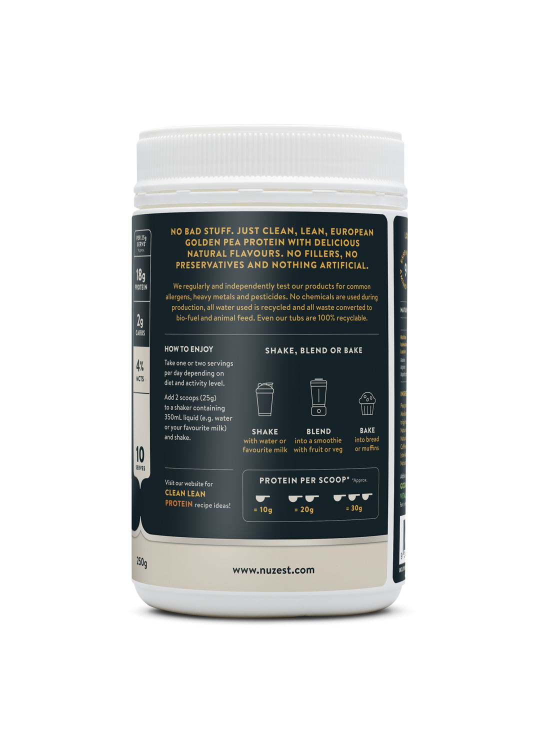 Clean Lean Protein Coffee Coconut + MCTs 250g