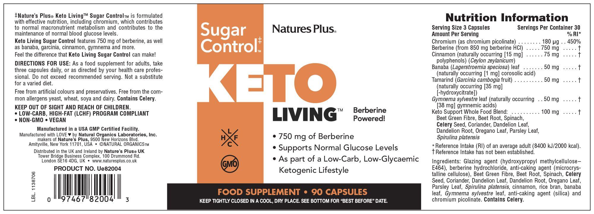 Keto Living Sugar Control 90's