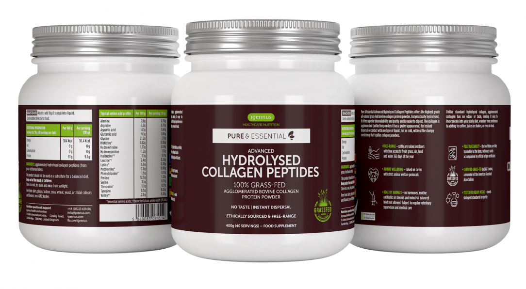 Pure & Essential Advanced Hydrolysed Collagen Peptides 400g
