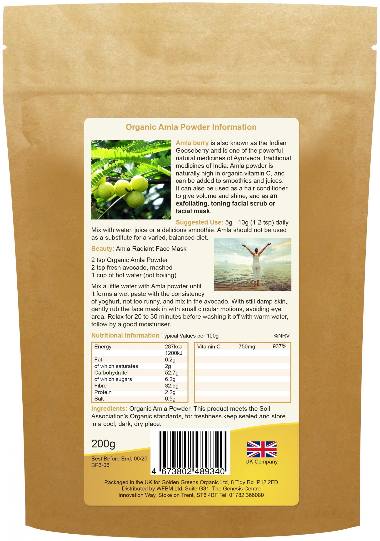 Organic Amla Powder 200g