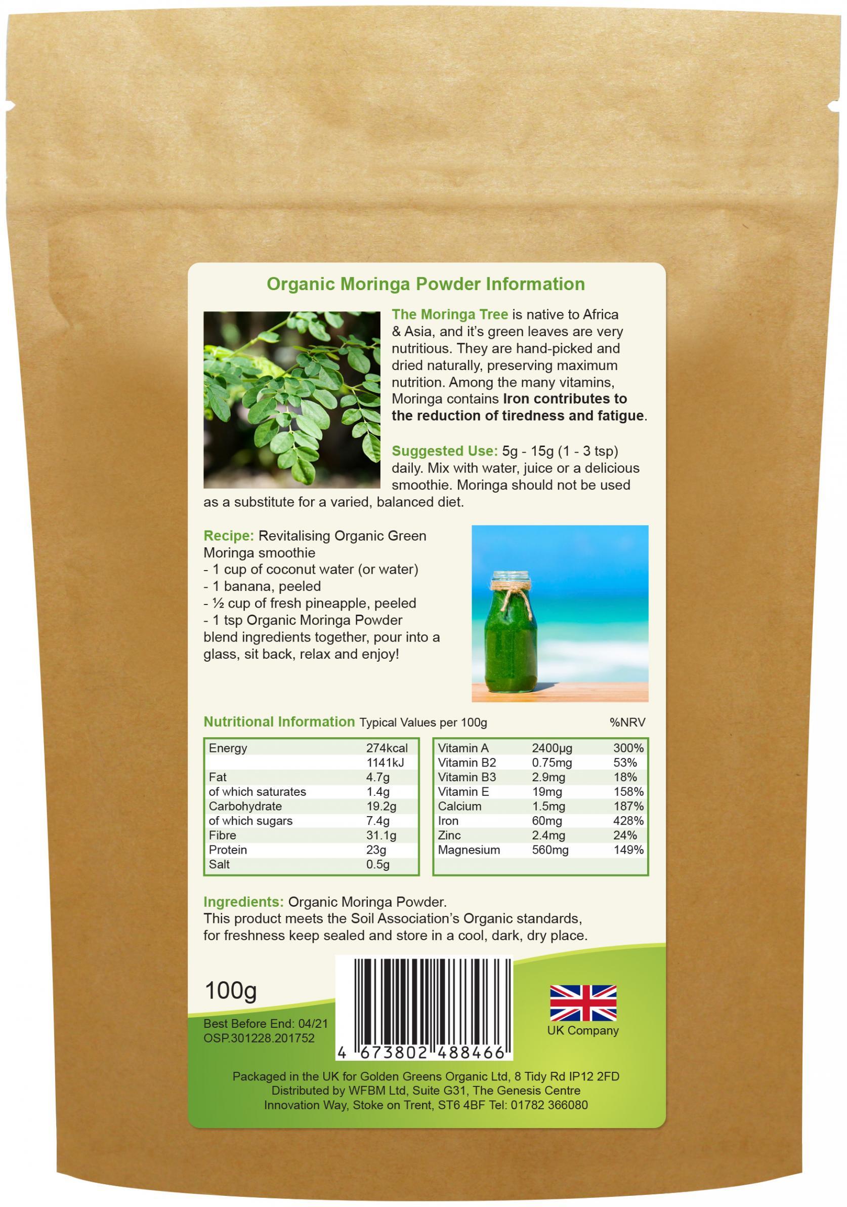 Organic Moringa Powder 100g