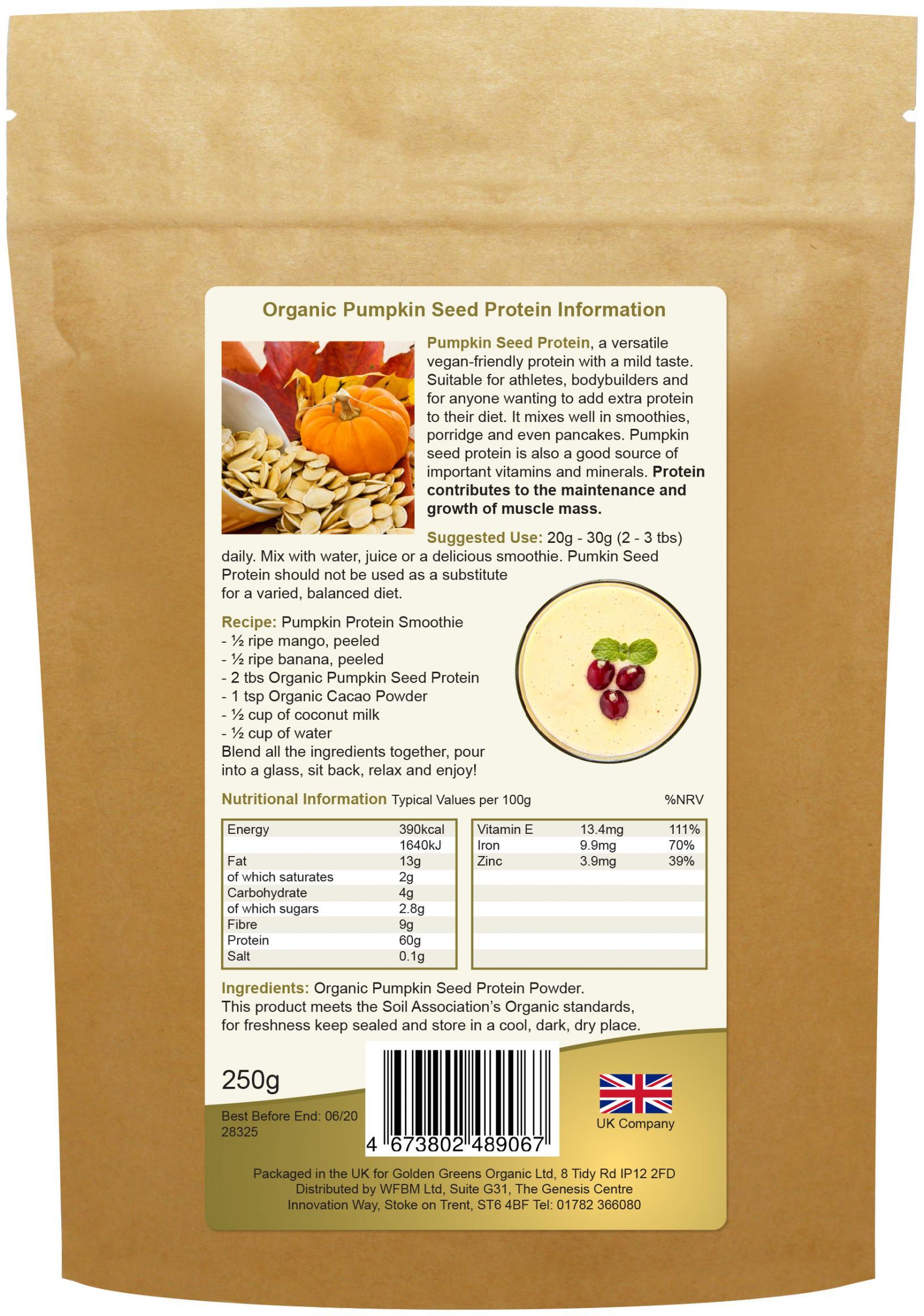 Organic Pumpkin Seed Protein 250g