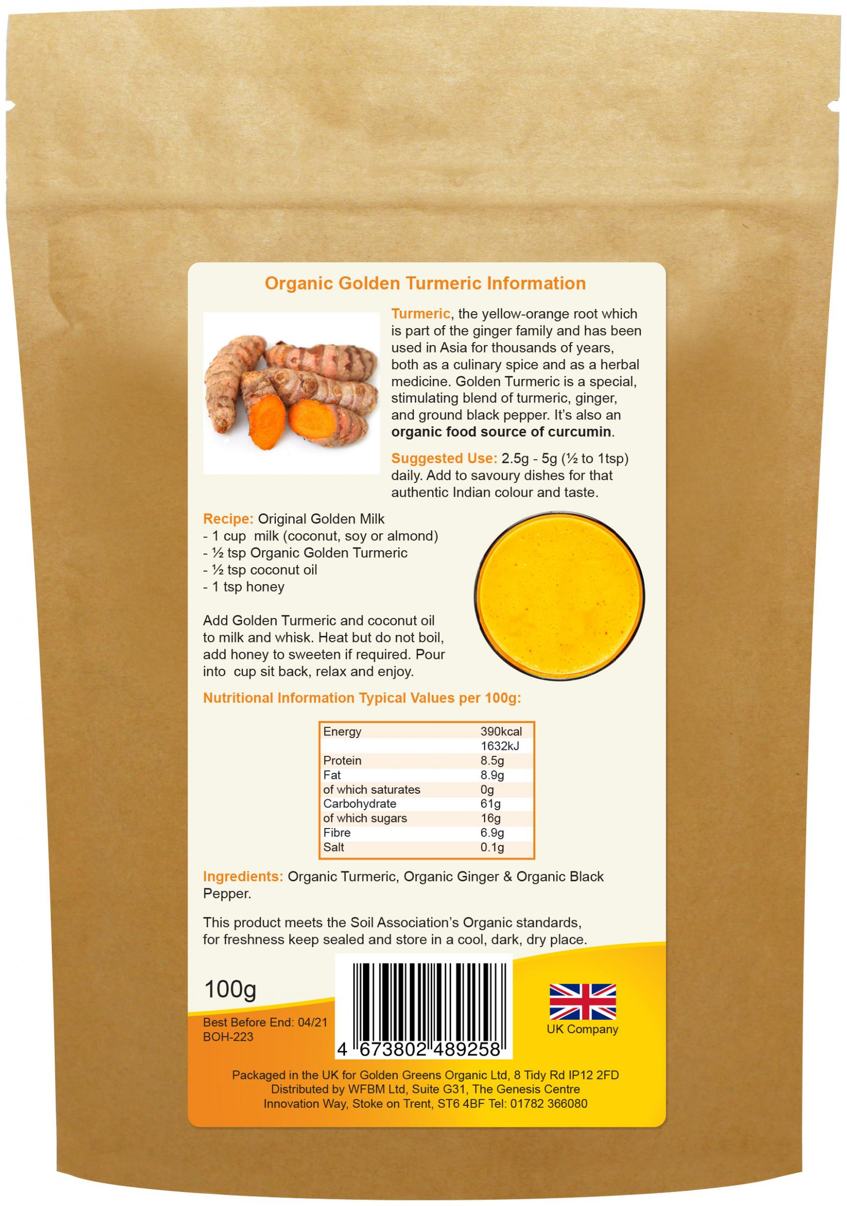 Organic Golden Turmeric 100g